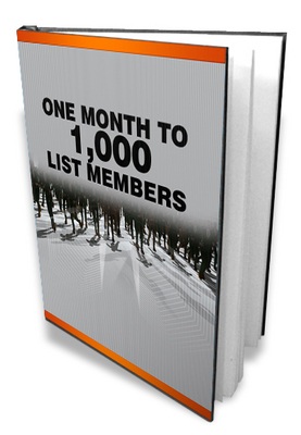 Product picture One Month To A 1000 List Members